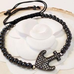 NEW Pave CZ Anchor Bracelet